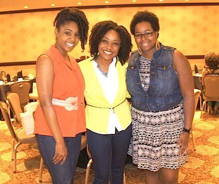 Tamara of Natural Hair Rules blog (left) and Shasie of Living Life in Style blog (right)+ me (middle)